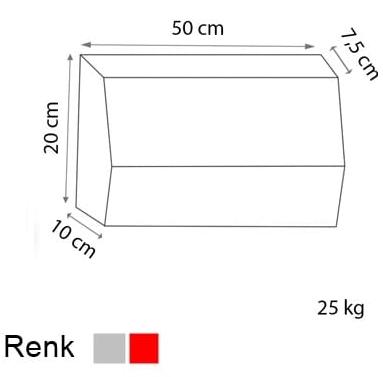 bahçe bordürü ölçüleri