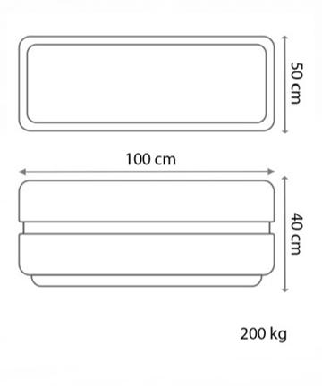 beton saksı 100x50 ölçüsü