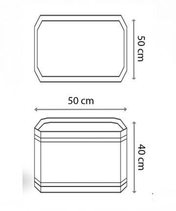beton saksı 50x50 ölçüsü