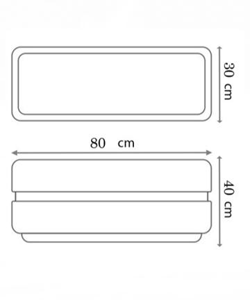 beton saksı 80x30 ölçüsü