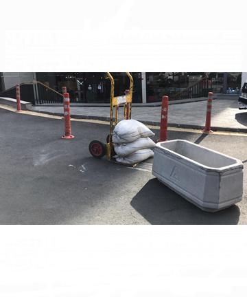 beton saksı 80x40