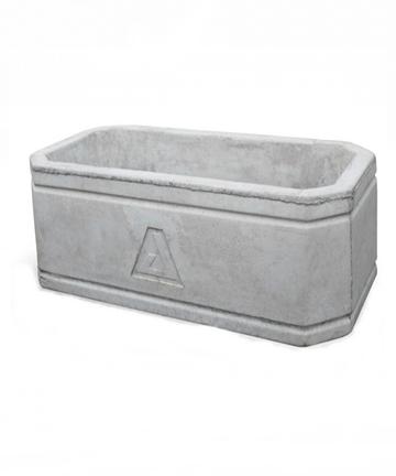beton saksı 80x40 gri