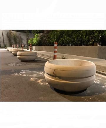 beton saksı 80x80 gri