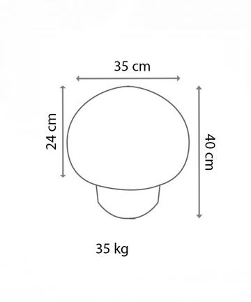 küçük beton mantar duba ölçüsü