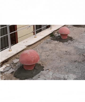küçük beton mantar uygulama