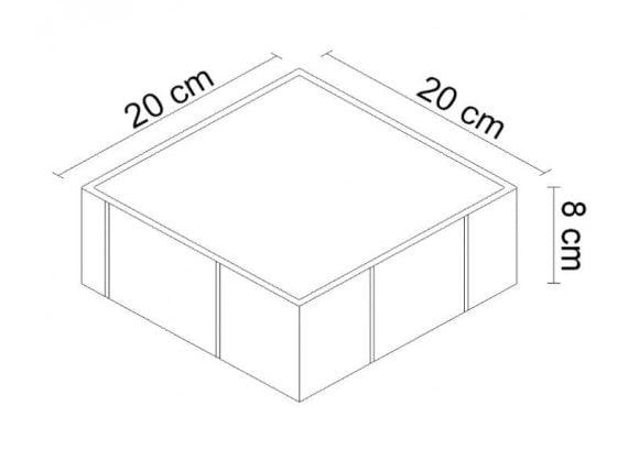 Plak Taşı 20x20 ölçüsü