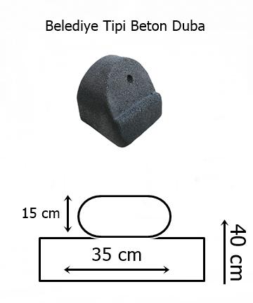 belediye tipi beton duba ölçüleri
