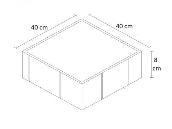 plak taşı 40x40 ölçü